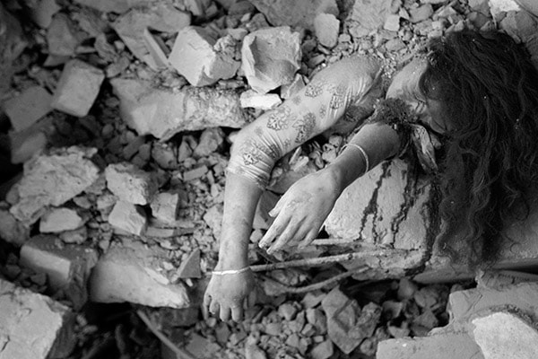Dead garment factory worker, Rana Plaza