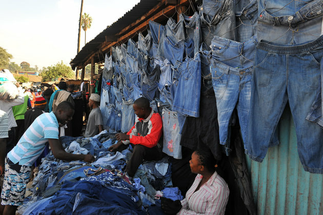 Second hand clothing market in Nairobi